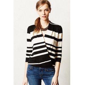 Anthropologie Deletta Striped Crossed Sweater